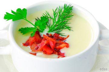Крем-суп со сливками и картофелем