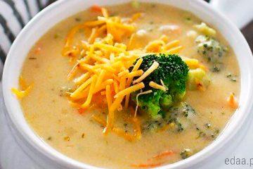 Суп сырный с брокколи и шампиньонами