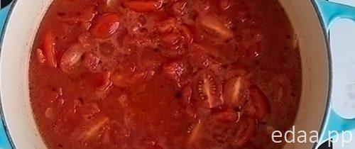 Остренькая паста с креветками в томатно-чесночном соусе