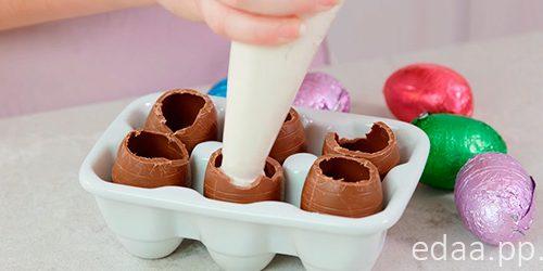 Чизкейк шоколадные яйца - необычный десерт к Пасхе