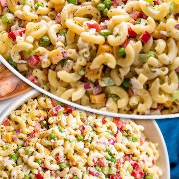 Салат с макаронами ПП рецепт