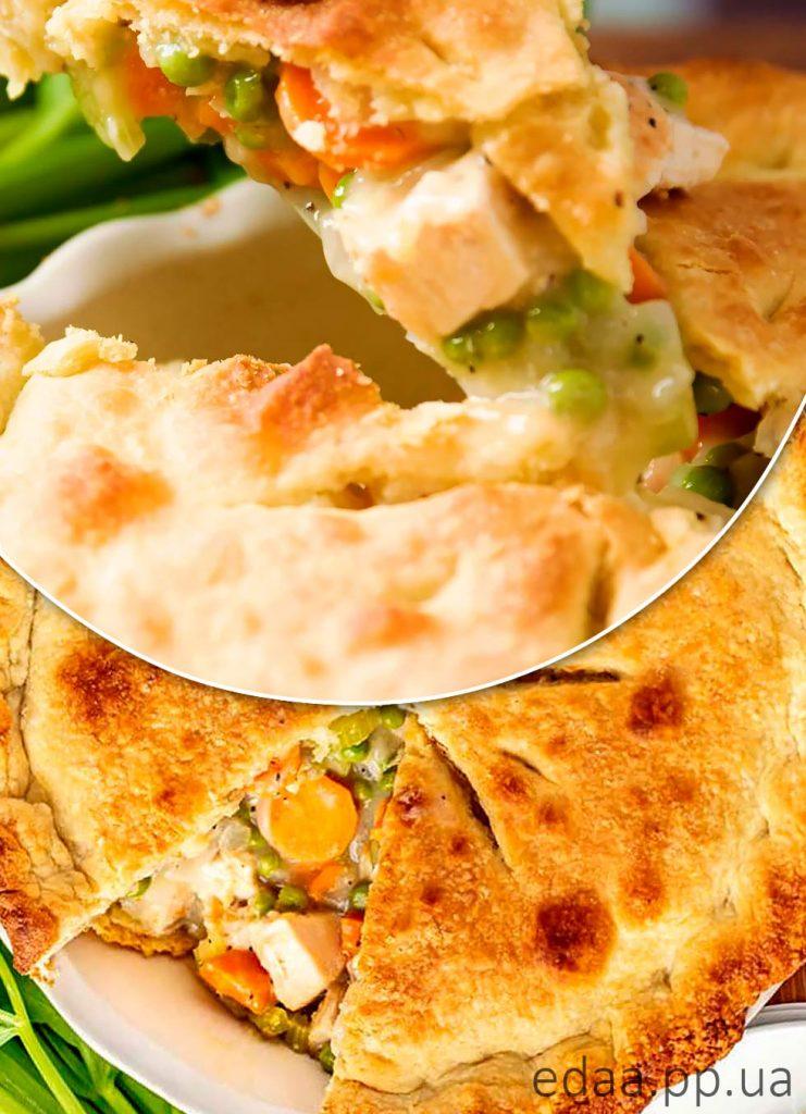 ПП Пирог с курицей и овощами