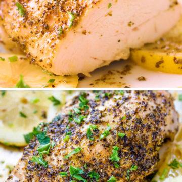 Курица с лимоном и перцем запеченная